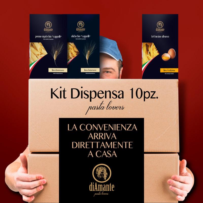 Kit dispensa 10 pz pasta lovers