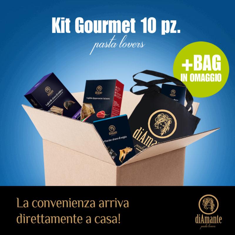 Kit Gourmet di 10 pz + bag omaggio